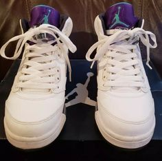 uk availability ec5fc 56227 Nike Air Jordan V 5 Retro GS Sz 5y Grape White Emerald 440888 108 w Box   fashion  clothing  shoes  accessories  kidsclothingshoesaccs  boysshoes  (ebay link)