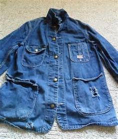 e1697c56b50 Vintage Carters Denim Chore Jacket - Yahoo Image Search Results Vintage  Denim