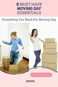 Wonder what moving day essentials you need? Get these 9 Must Have Moving Day Items and Moving Day Tips. They are the essential parts to having a great moving day experience into your first home. New Home Checklist, Moving Checklist, Home Buying Tips, Buying Your First Home, Moving Day, Moving Tips, How To Find Out, How To Become, First Time Home Buyers