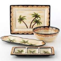 Charmant Palm Tree Dishes | Palm Tree By Tabletops Unlimited