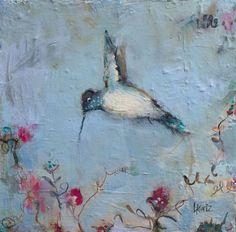 "Part of my hummingbird painting series. To see more, please visit my website. 12"" x 12"" Hummingbird Painting, Contemporary Paintings, Fine Art, Gallery, Artist, Website, Roof Rack, Artists, Visual Arts"