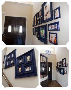 photo walls, picture arranging ideas