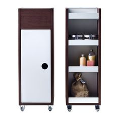 KLAMPEN Cart IKEA Easy to move around with the included casters - this might work in our weird space in the kitchen