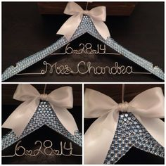 Check out our bling hanger selection for the very best in unique or custom, handmade pieces from our wedding dress hangers shops. Bride Hanger, Wedding Hangers, Bling Wedding, Diy Wedding, Wedding Ideas, Something Blue Wedding, Plastic Hangers, Gown Photos, Ribbon Colors