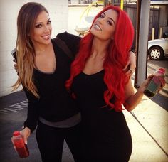 Eva Marie... That hair is outstanding! Inspiration from her and my sistaaa