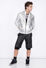 Daniel Won Collection - Hunter Hoodie in Silver Camo Lambskin