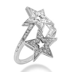 Special Offer!! White CZ Wedding Star Bypass Band Ring In 925 Sterling Silver #Silverdew #Bypass