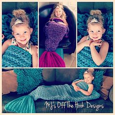 This is a PDF crochet pattern for a soft bulky mermaid blanket! Perfect to cozy up with on the couch. It is designed to cocoon around the calves and feet. I designed this pattern to work up quick. It's a simple design suitable for a beginner. The body of the blanket uses 2 strands of bulky weight yarn with a Q hook. This pattern comes in three sizes: preschool, child, and adult.
