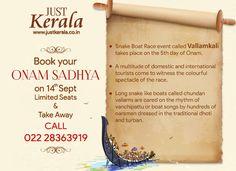 JUST KERALA Multi Cuisine Restaurant & Bar @ Hotel Samraj ANDHERI east - CHAKALA For Reservations Call : 022 28363919 Website - www.justkerala.co.in #vallamkali #Onam2016 #onam16 #onam #justkerala #tasteofkerala #keralasadhya #karalathali #vegthali #onamsadhya #kerala #keralafood #oneofitskind #healthyfood #eathealthy #yum #yummy #hotelsamraj #mumbai #mymumbai