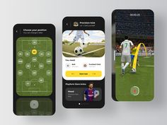 Football App ⚽️ designed by Rondesignlab UX/UI for RonDesignLab. the global community for designers and creative professionals. Ios, Super Hero Outfits, Animation, Ui Kit, Show And Tell, Mobile Application, App Design, Football, Creative