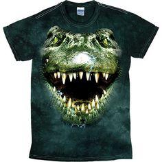6563a80cc [Tie Dye Tee] - Oversized Alligator. CottonAnimalsMens TopsShirtsProducts Animal PrintsTie Dye PatternsFashionDesign