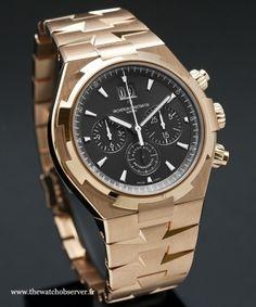 Montre automatique Vacheron Constantin Overseas chronographe or rose