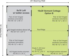 This Vermont Cottage Option B design gives you the most bang for your buck! It features a loft, more room and character. Check out its quality features!