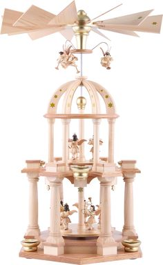 2-Tier Pyramid - Eleven Angels Natural - 30×55 cm / 11.8×21.7 inch