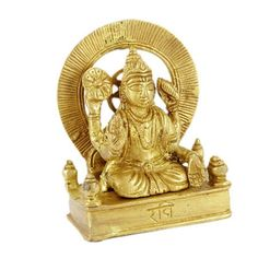 Surya Planet Statue In Thick Brass Religious Sculpture