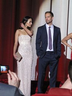 Jordana Brewster and Paul Walker