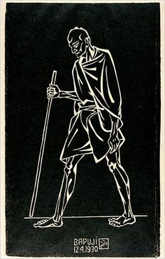 Gandhi March (Bapuji) - Nandalal Bose