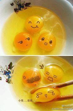 I wish my breakfast could be so kawaii! I wish my breakfast could be so kawaii! Funny Cute, Hilarious, Cute Egg, Kawaii Chibi, Egg Art, Cute Food, Funny Food, Anime Comics, Food Art