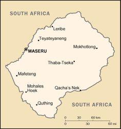 Main towns of Lesotho - Lesotho's Basotho are a Bantu-speaking people.