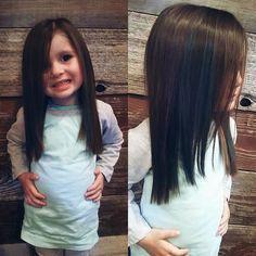 Corte de cabello nina largo