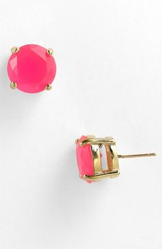 I love these!!! Gumdrop earrings in pink from Kate Spade!