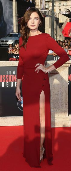 Rebecca Ferguson. The world premiere of Mission Impossible Rogue Nation.