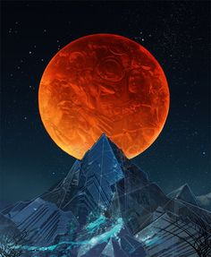 Android Jones red moon