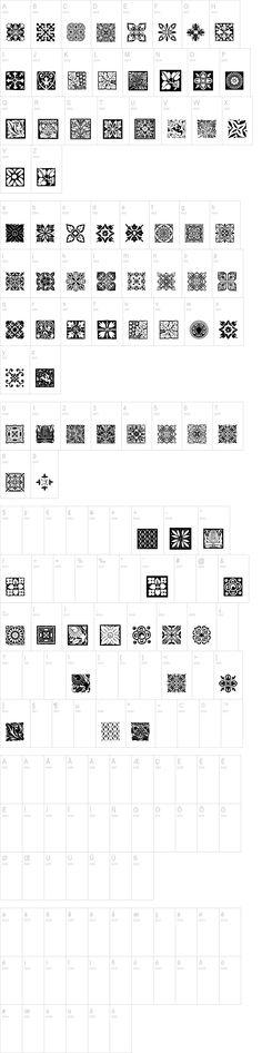 Free Tiles Font   dafont.com