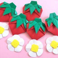 折り紙のいちごでハッピースプリング♡苺 ガーランド 壁面飾り