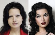 Amazing 'Before' and 'After' Photos: Make-up Artist Transforms a Face Without the Use of Photoshop