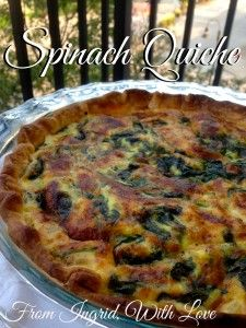 Spinach Quiche- Easy and delicious, and authentically French! | From Ingrid, With Love