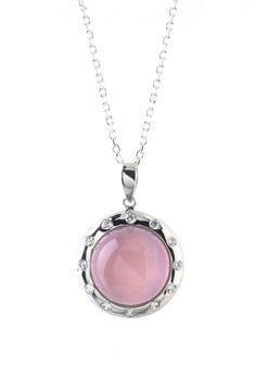 Parure chaîne et pendentif argent avec imitation pierres précieuses rose clair et zirconium blanc #bijoux #boucles #bijouterie #jeandelatour_officiel #bijoutier #bijouxfemme #bijouxcreateur #mode #collier