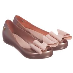 Pink Slip-On Jelly Shoes with Bow, Mini Melissa, Girl
