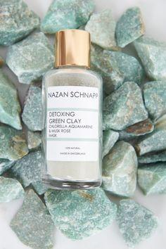 Detoxing Green Clay Chlorella Aquamarine & Musk Rose Mask - Shop All Musk Rose, Green Clay, Mask Shop, Clay Masks, Collagen, Detox, Perfume Bottles, Skincare, Luxury