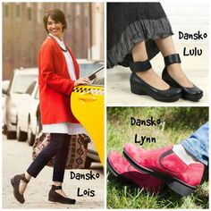 Best Shoes for Plantar Fasciitis: Here we have the Dansko Lois, Lulu and Lynn!