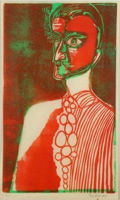 Ludvig Eikaas Selvportrett med slips