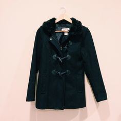 H&M jacket Navy blue | buttons with loops | comes with a hood // worn few times H&M Jackets & Coats Pea Coats