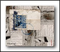 Japanese Postage 20 Sen by Carol Leigh - various photographs combined and altered digitally #collage #photomontage