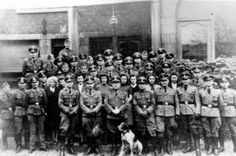Liege, Belgium, Members of the local Gestapo in uniform.