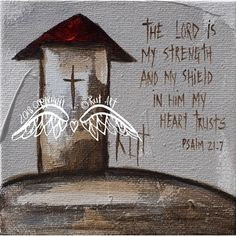 Canvas Print : The lord is my strength Art Journal Inspiration, Angel Pictures, Canvas Prints, Painting, Church Art, Art, Canvas Painting, Angel Art, Angel Painting
