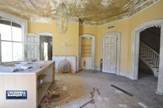 """People are """"Dying"""" To Get Their Hands on This Crumbling Old Mansion for Sale"""