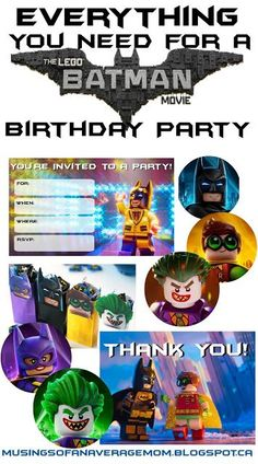 Everything you need for a Lego Batman Birthday Party