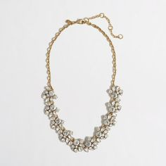 Bridesmaids J.Crew Factory - Factory crystal cluster necklace