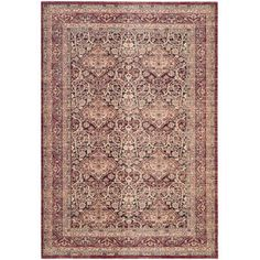 Safavieh Lavar Kerman Dijana Power-Loomed Area Rug, Red