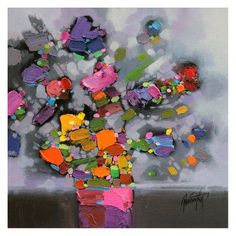 hobbitholeco Pink Flower Vase Wall Art by Scott Naismith - SCT011ONL