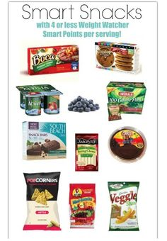 Smart Snacks with Weight Watcher SmartPoints | Weight Watchers Recipes