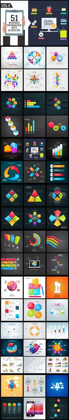 Professional Business #Infographic Sets with #statistical bar, #graphs, #charts…
