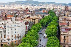 Las Ramblas in Barcelona, everything you need on one long street. #barcelona #lasramblas #shopping #spain