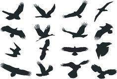 cnc world: free bird silhouette dxf