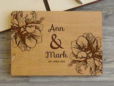 Свадебная книга пожеланий с гравировкой ручной работы купить в Украине